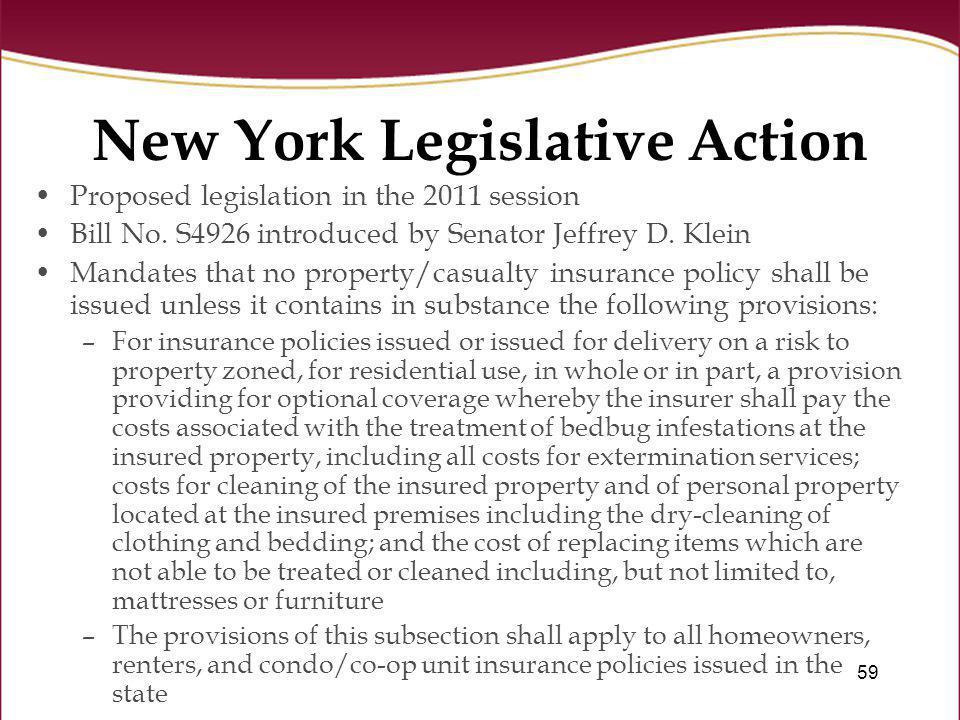 New York Legislative Action