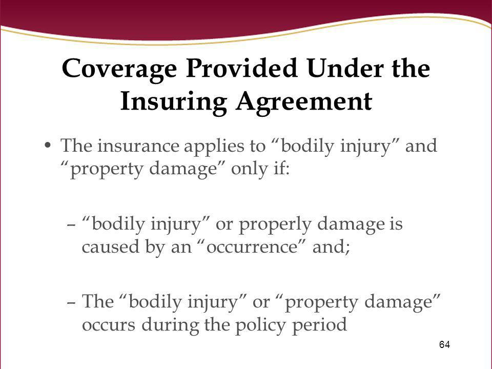 Coverage Provided Under the Insuring Agreement
