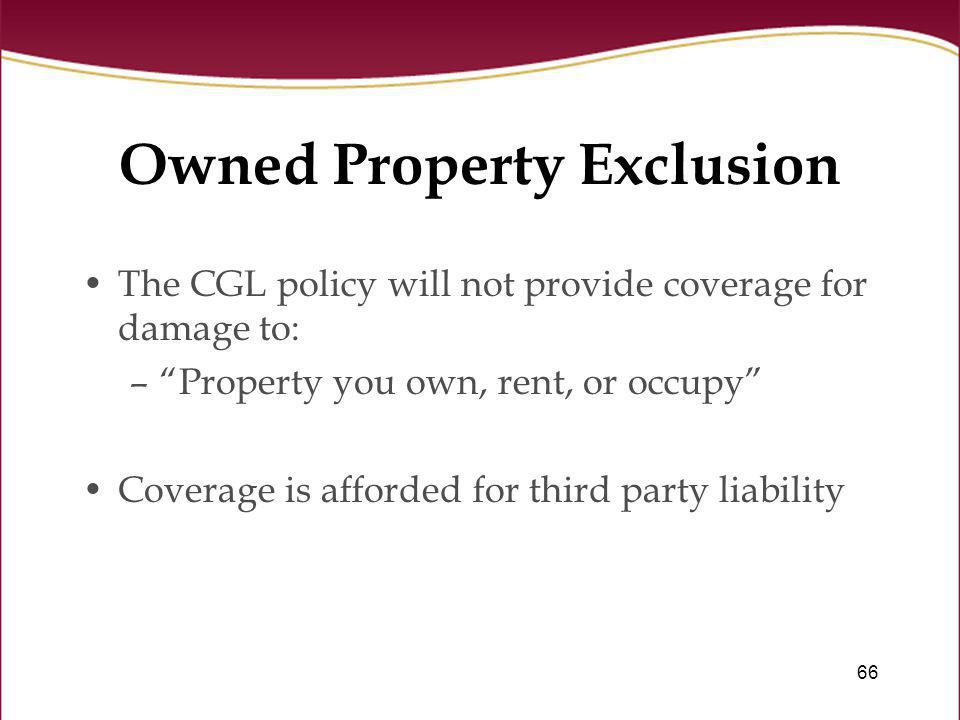 Owned Property Exclusion