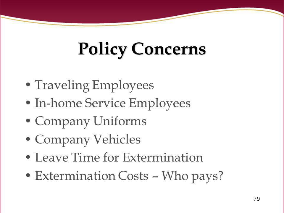 Policy Concerns Traveling Employees In-home Service Employees