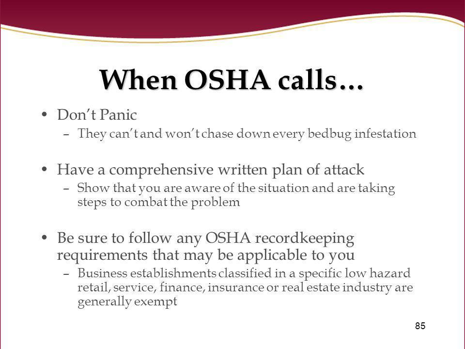 When OSHA calls… Don't Panic