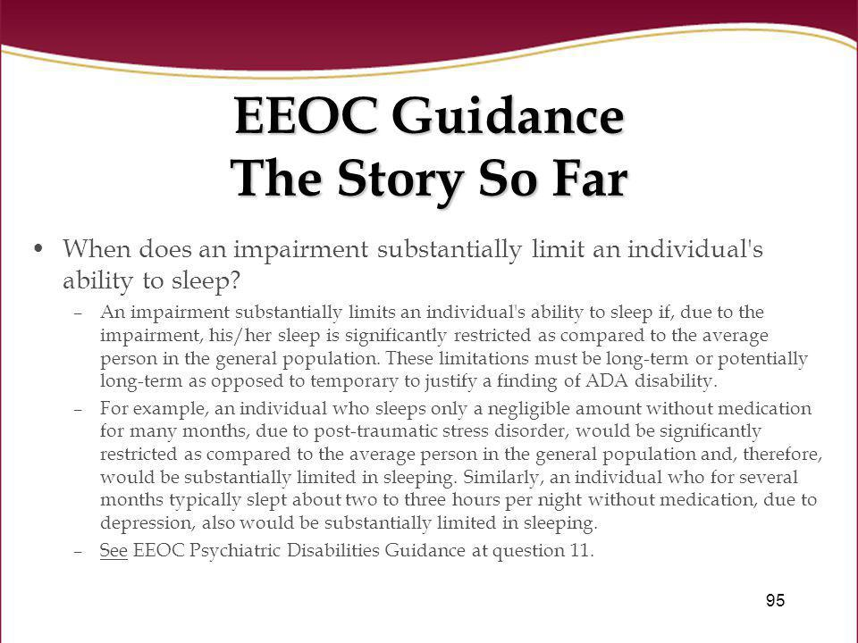 EEOC Guidance The Story So Far