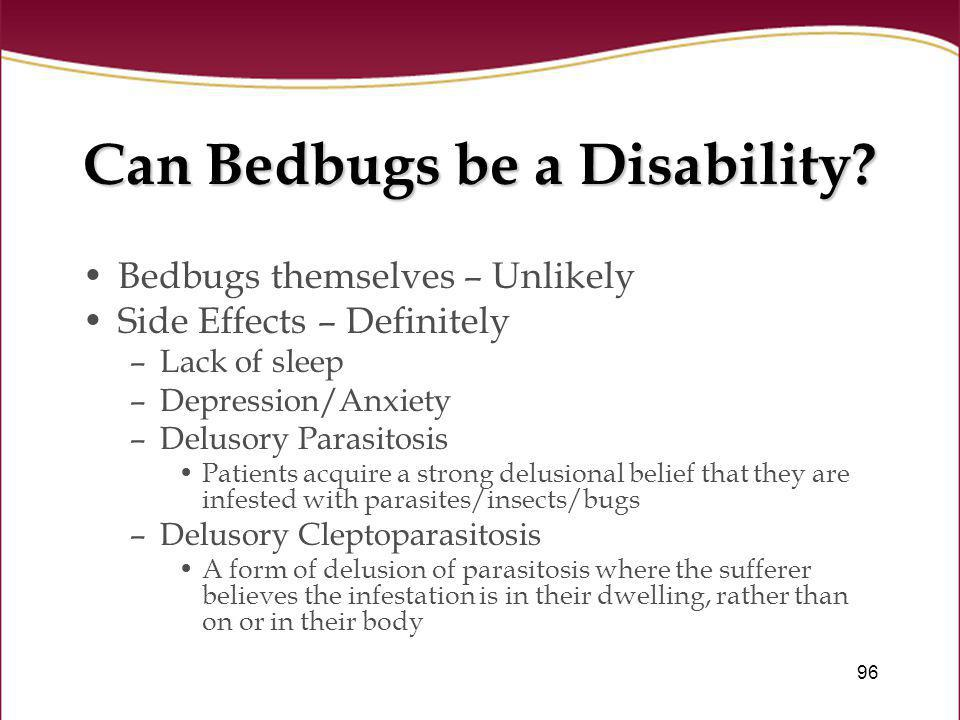 Can Bedbugs be a Disability