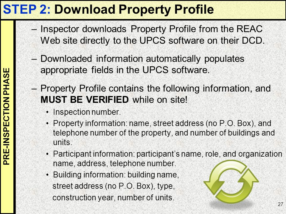 STEP 2: Download Property Profile