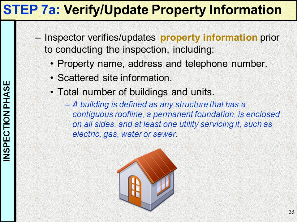 STEP 7a: Verify/Update Property Information