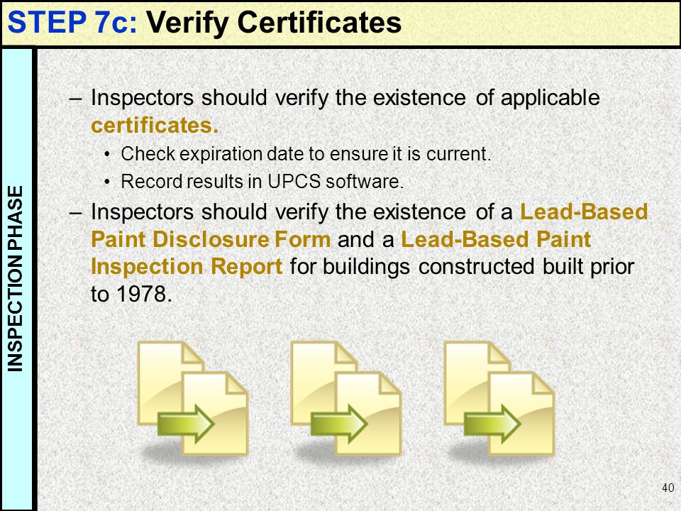 STEP 7c: Verify Certificates
