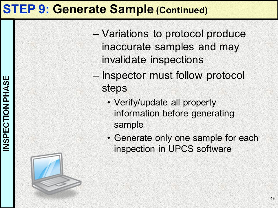 STEP 9: Generate Sample (Continued)
