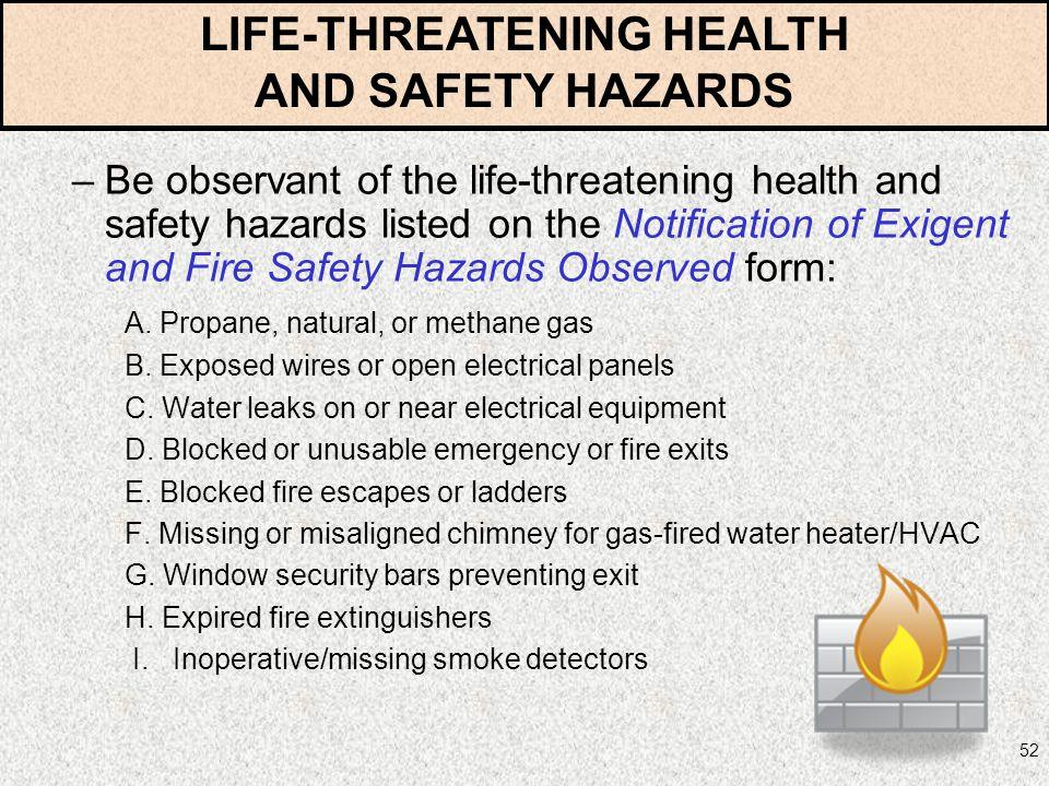 LIFE-THREATENING HEALTH