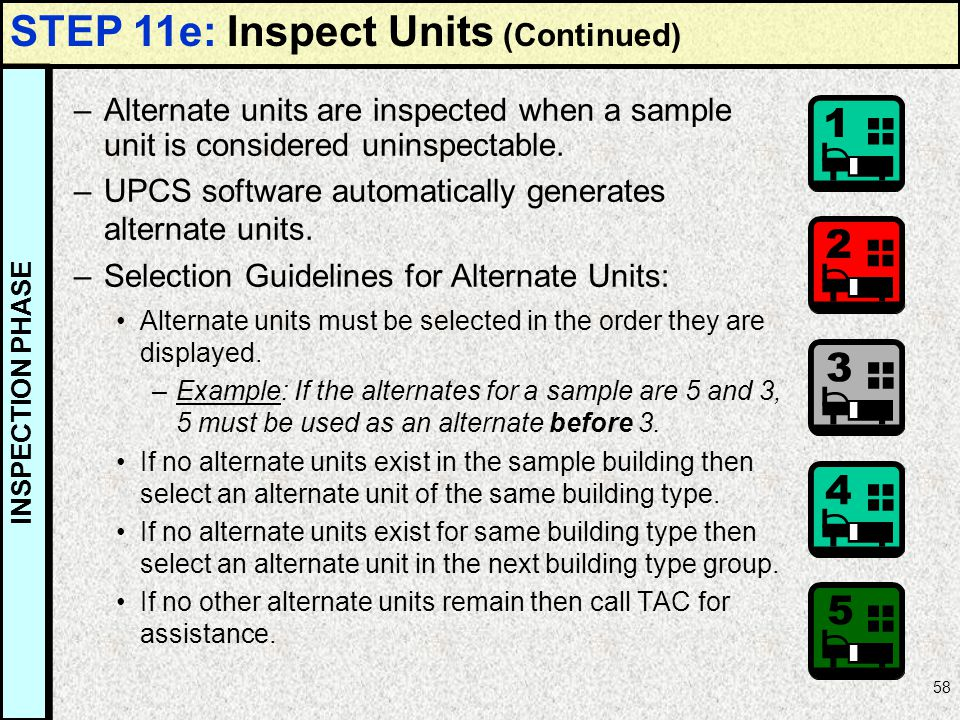 STEP 11e: Inspect Units (Continued)