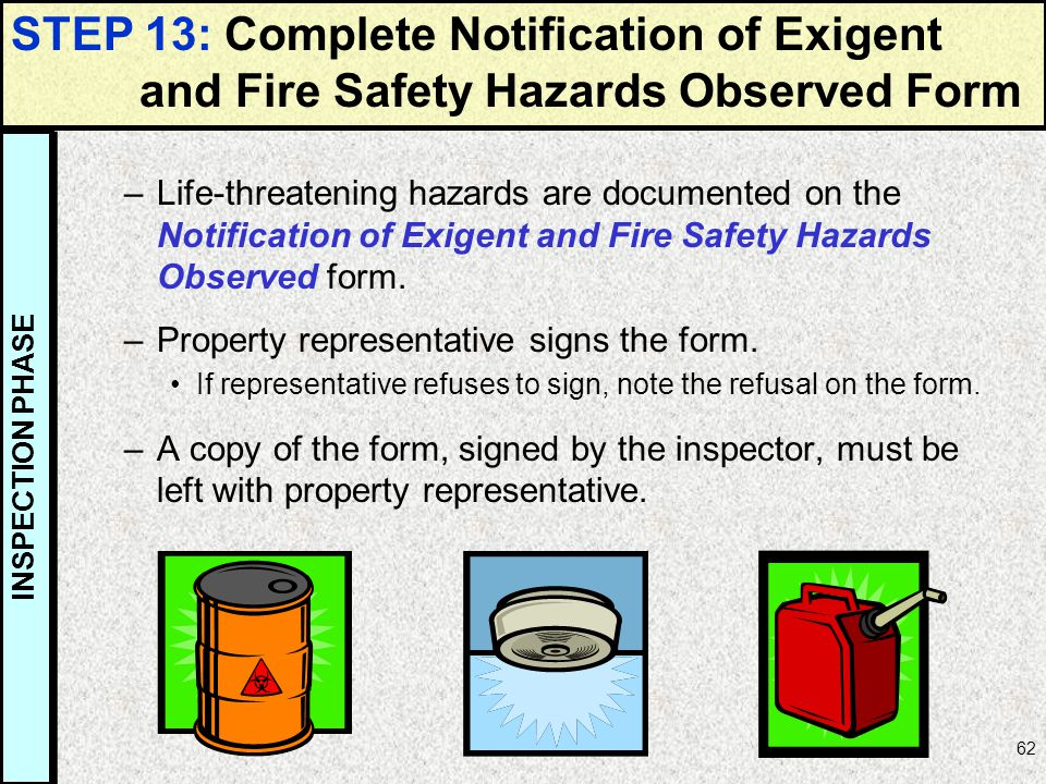 STEP 13: Complete Notification of Exigent