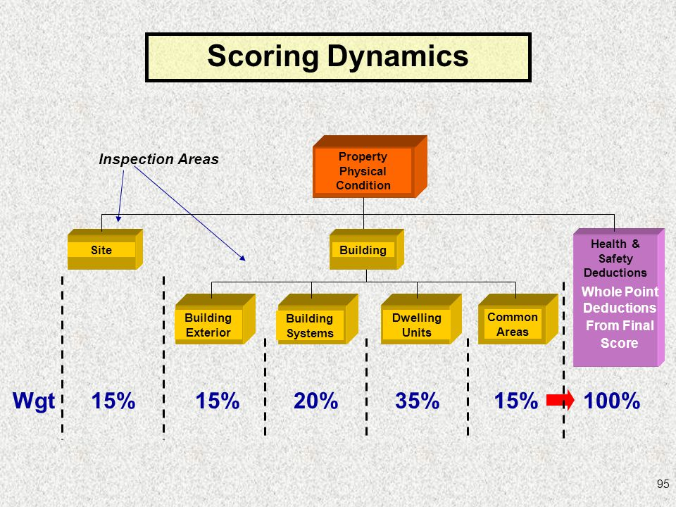 Scoring Dynamics Wgt 15% 15% 20% 35% 15% 100% Inspection Areas