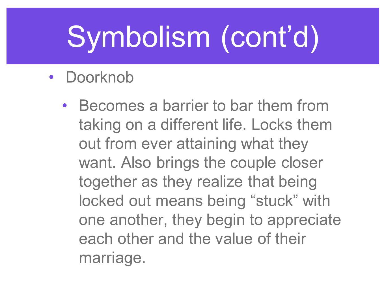 Symbolism (cont'd) Doorknob