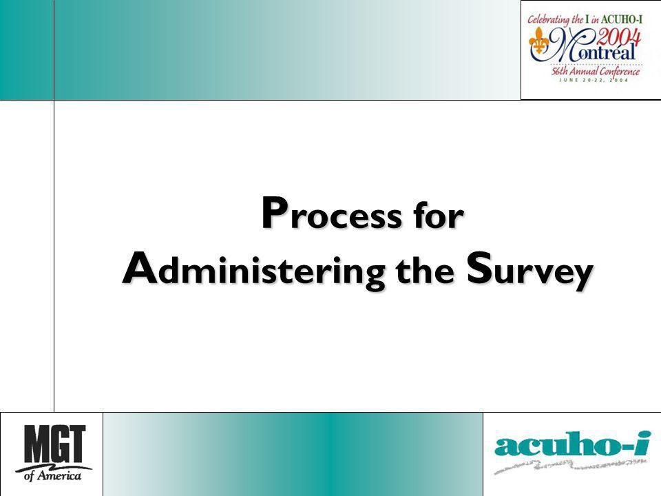 Process for Administering the Survey