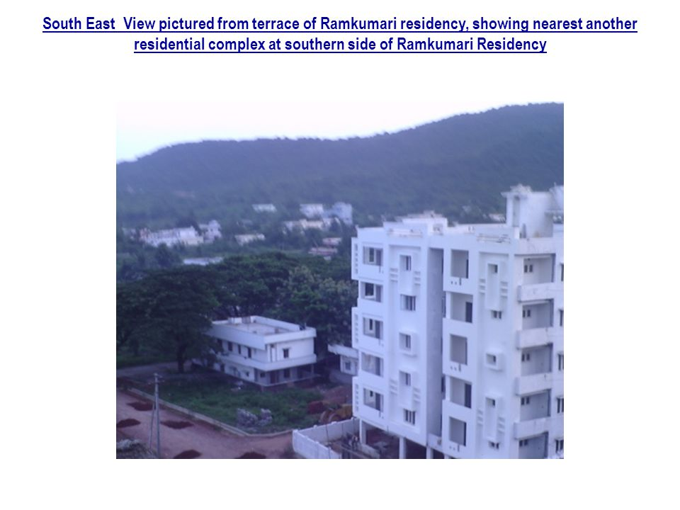 South East View pictured from terrace of Ramkumari residency, showing nearest another residential complex at southern side of Ramkumari Residency