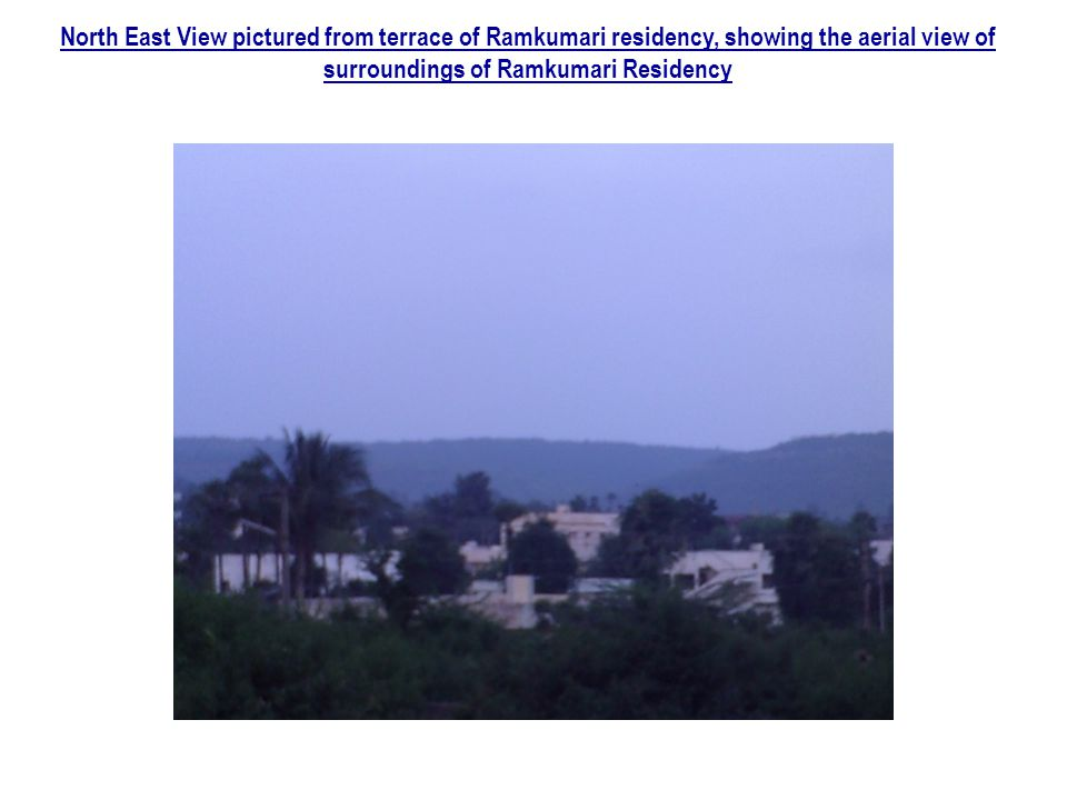 North East View pictured from terrace of Ramkumari residency, showing the aerial view of surroundings of Ramkumari Residency