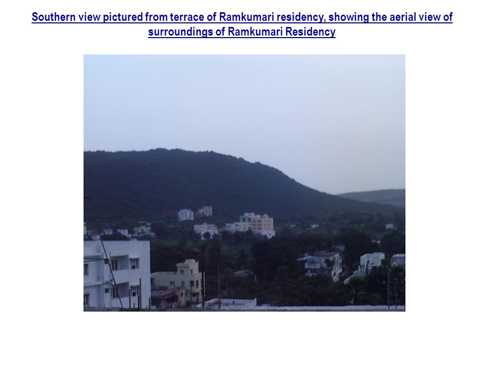 Southern view pictured from terrace of Ramkumari residency, showing the aerial view of surroundings of Ramkumari Residency