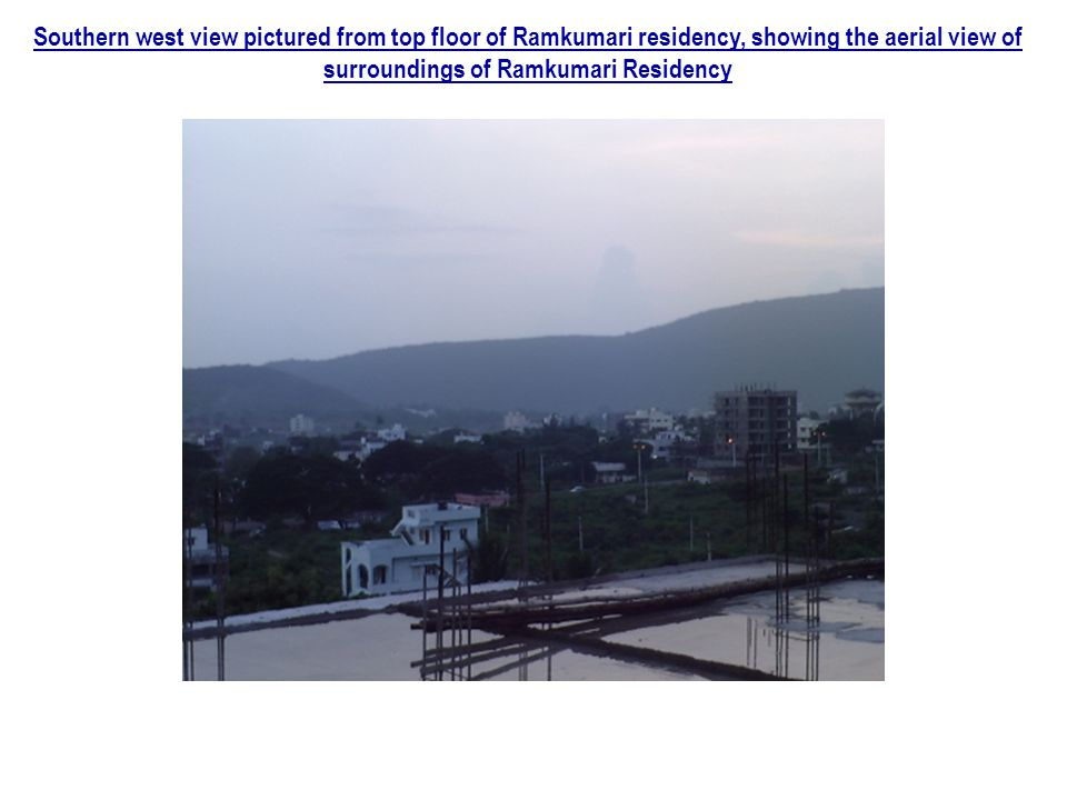 Southern west view pictured from top floor of Ramkumari residency, showing the aerial view of surroundings of Ramkumari Residency
