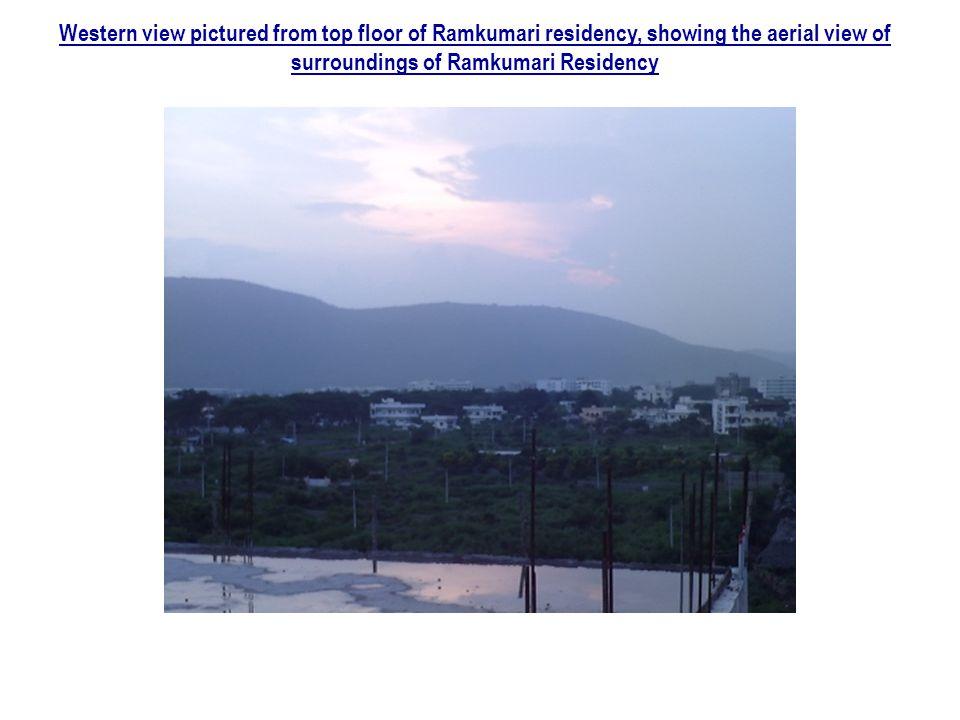 Western view pictured from top floor of Ramkumari residency, showing the aerial view of surroundings of Ramkumari Residency
