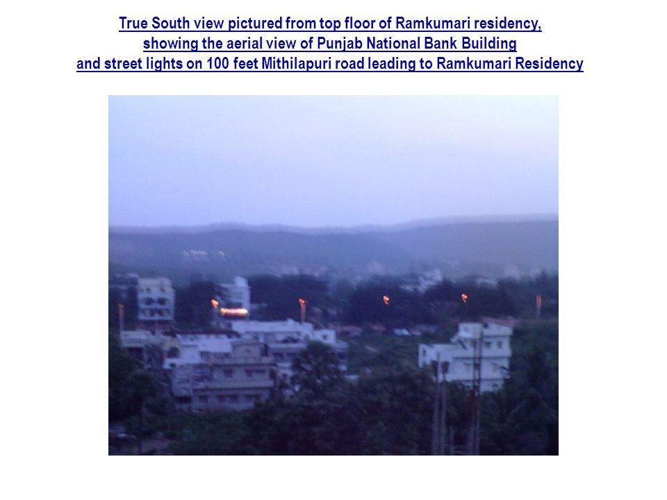 True South view pictured from top floor of Ramkumari residency,