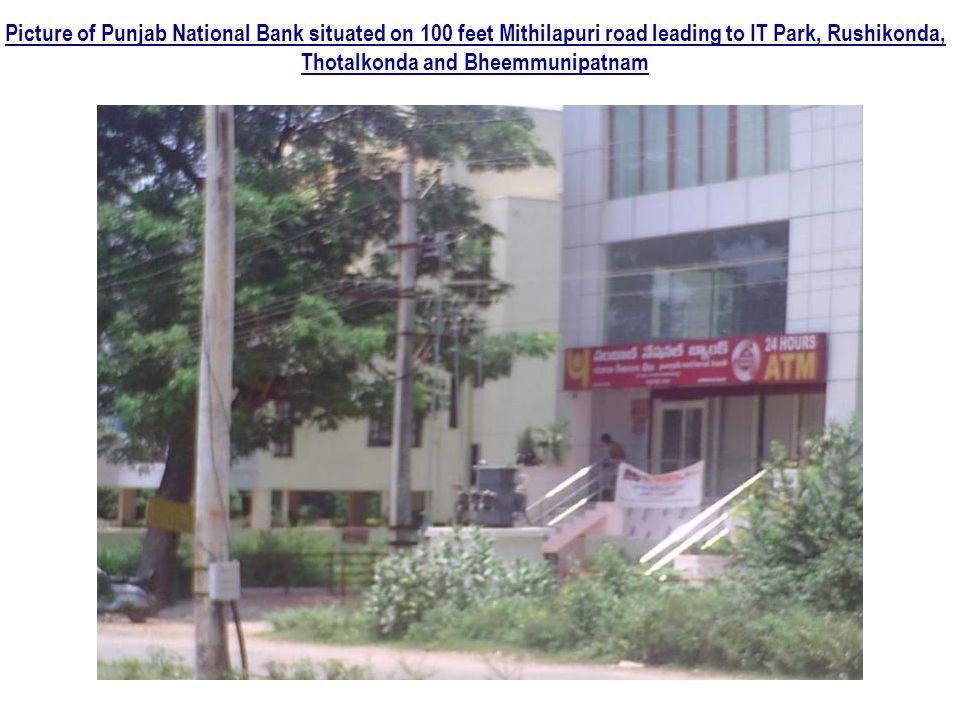 Picture of Punjab National Bank situated on 100 feet Mithilapuri road leading to IT Park, Rushikonda, Thotalkonda and Bheemmunipatnam