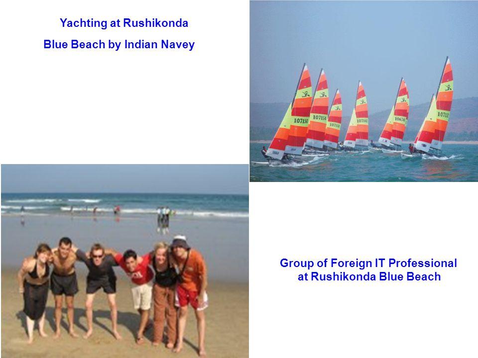 Yachting at Rushikonda Blue Beach by Indian Navey