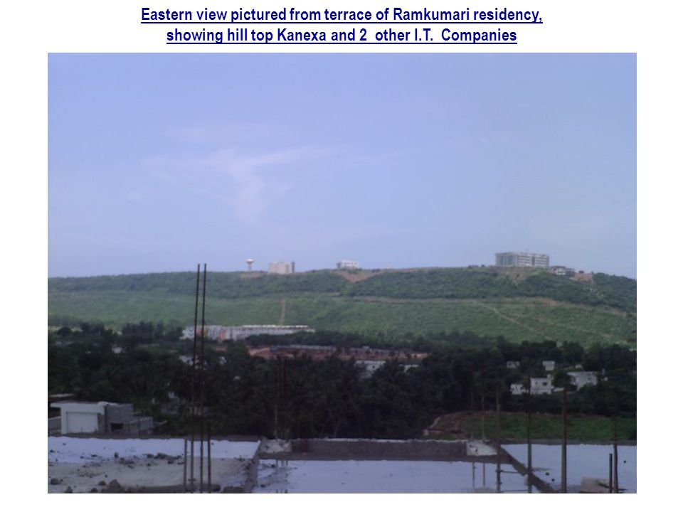 Eastern view pictured from terrace of Ramkumari residency,