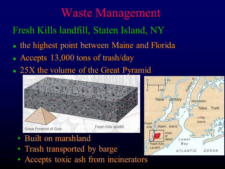 Waste Management Fresh Kills landfill, Staten Island, NY