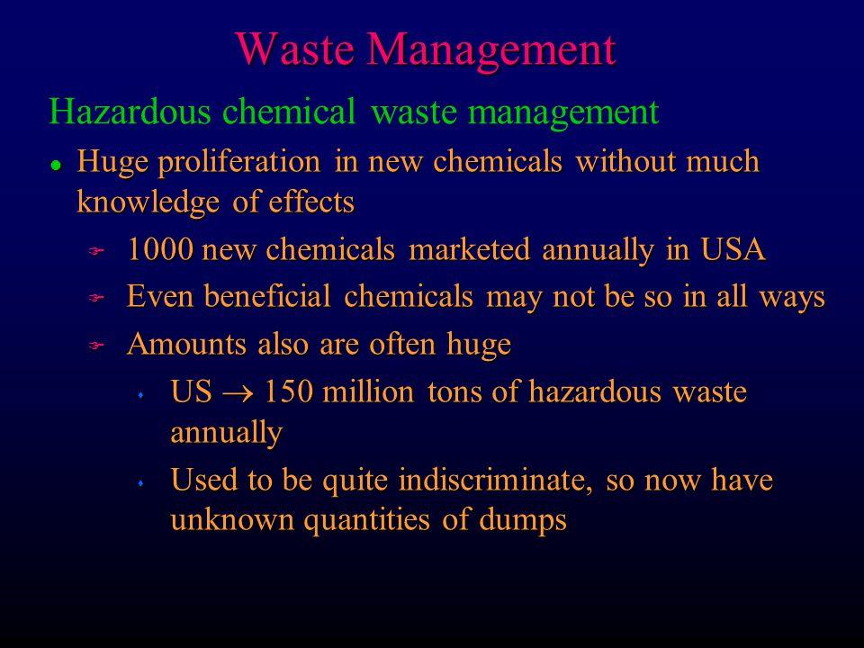 Waste Management Hazardous chemical waste management