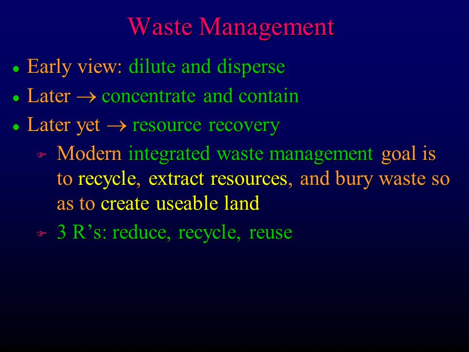 Waste Management Early view: dilute and disperse