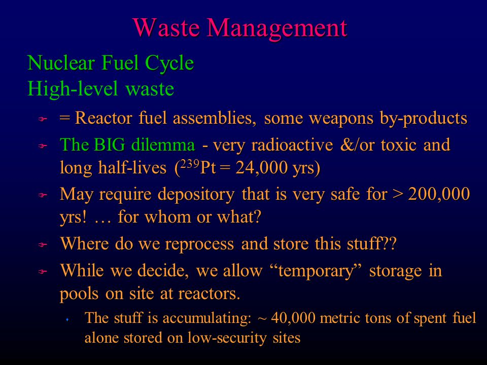 Waste Management Nuclear Fuel Cycle High-level waste