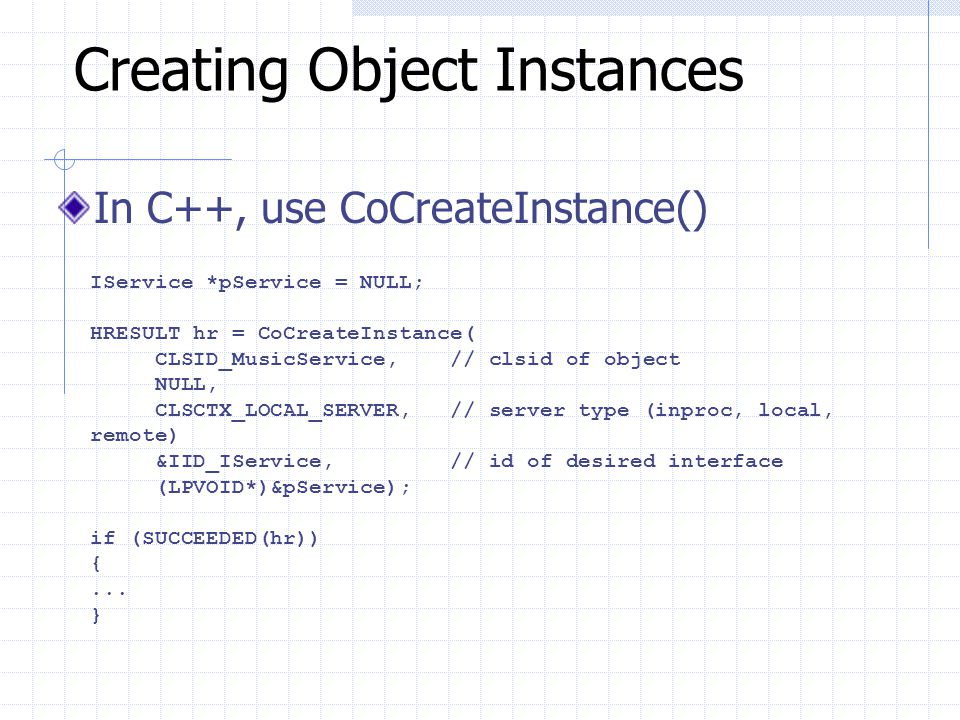 Creating Object Instances