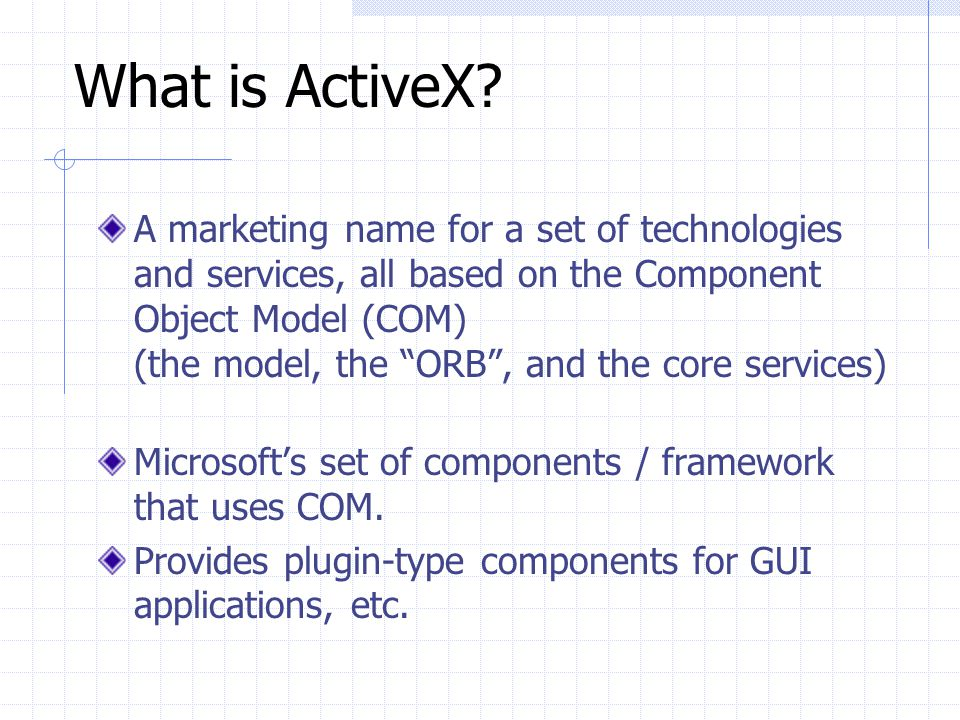 What is ActiveX
