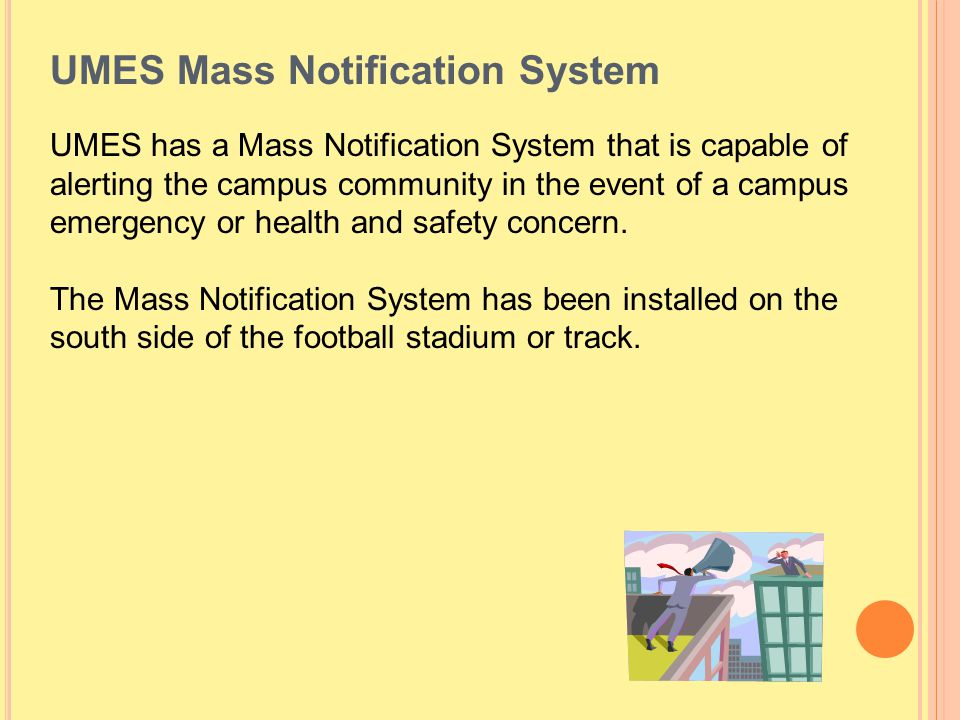 UMES Mass Notification System