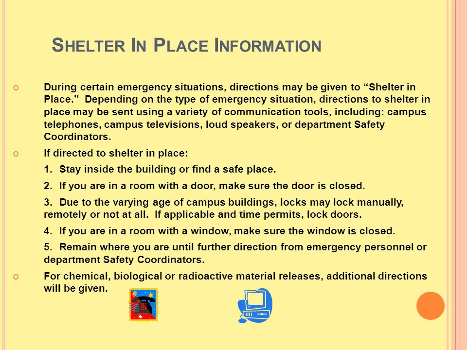 Shelter In Place Information