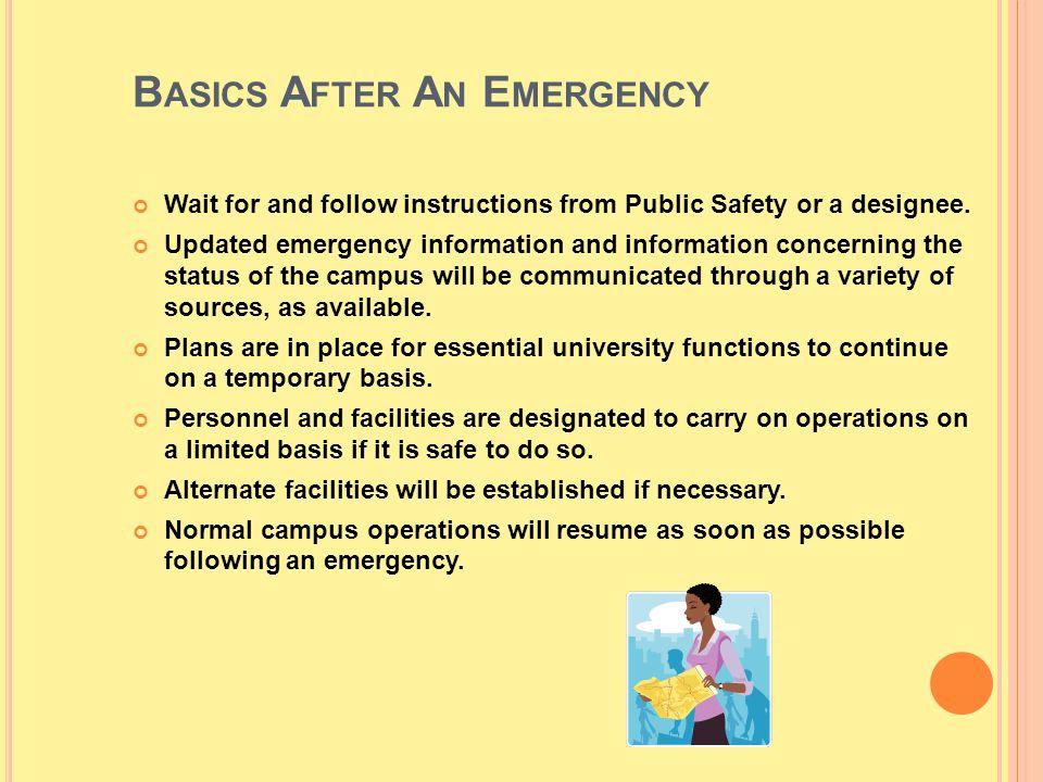 Basics After An Emergency