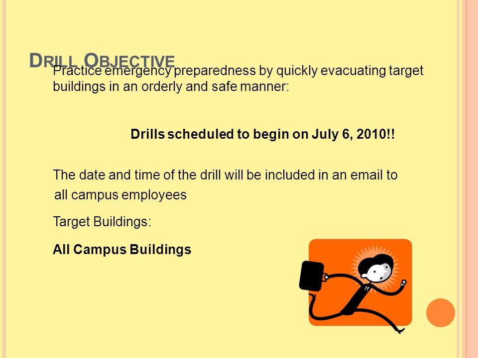 Drills scheduled to begin on July 6, 2010!!