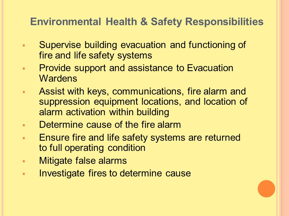 Environmental Health & Safety Responsibilities