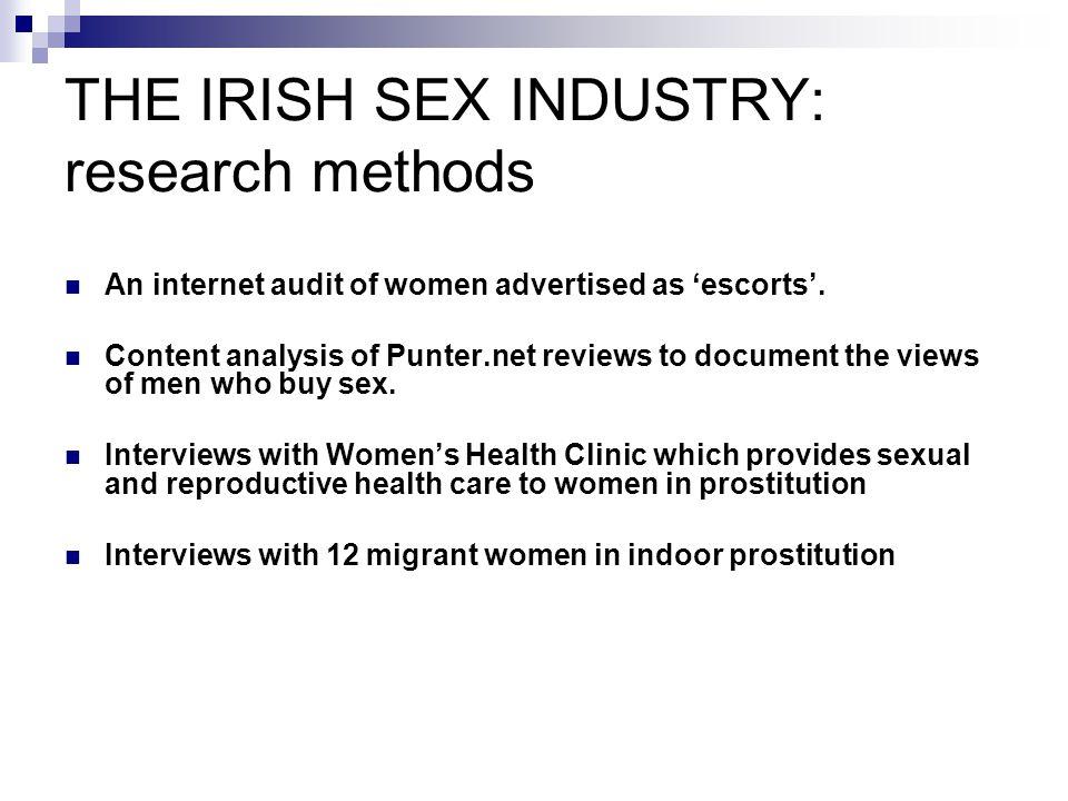 THE IRISH SEX INDUSTRY: research methods