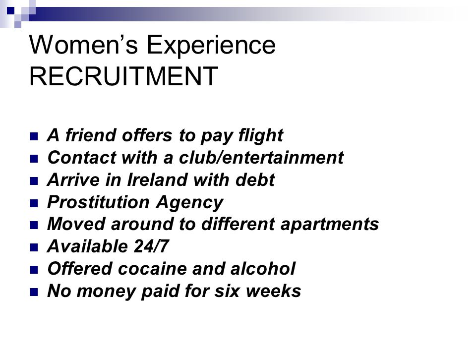 Women's Experience RECRUITMENT