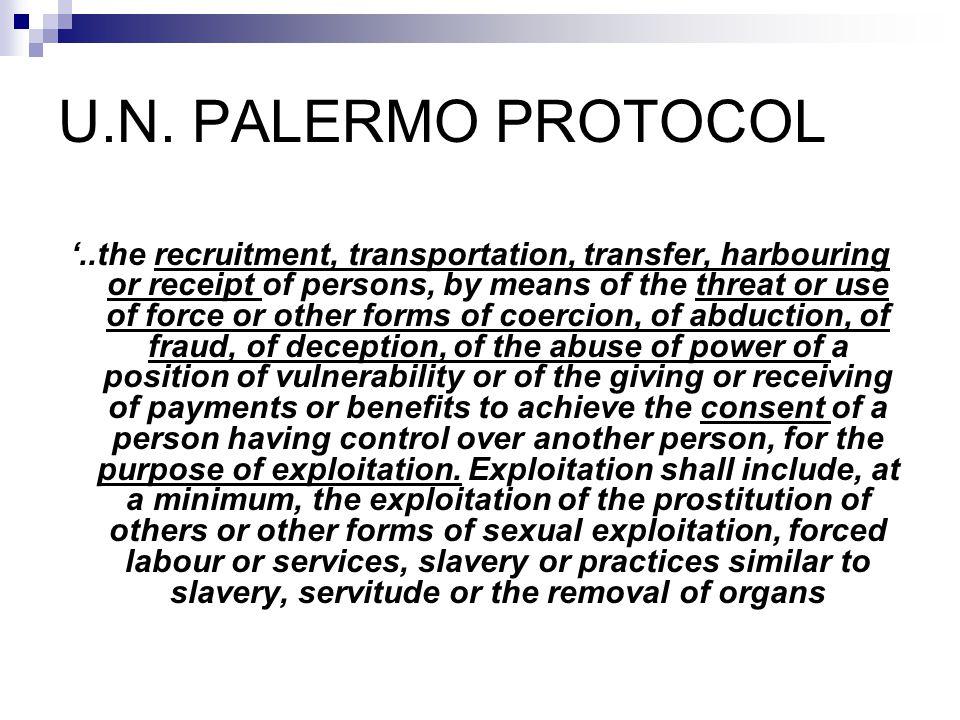 U.N. PALERMO PROTOCOL