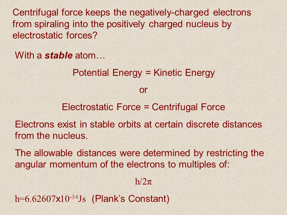 Potential Energy = Kinetic Energy or