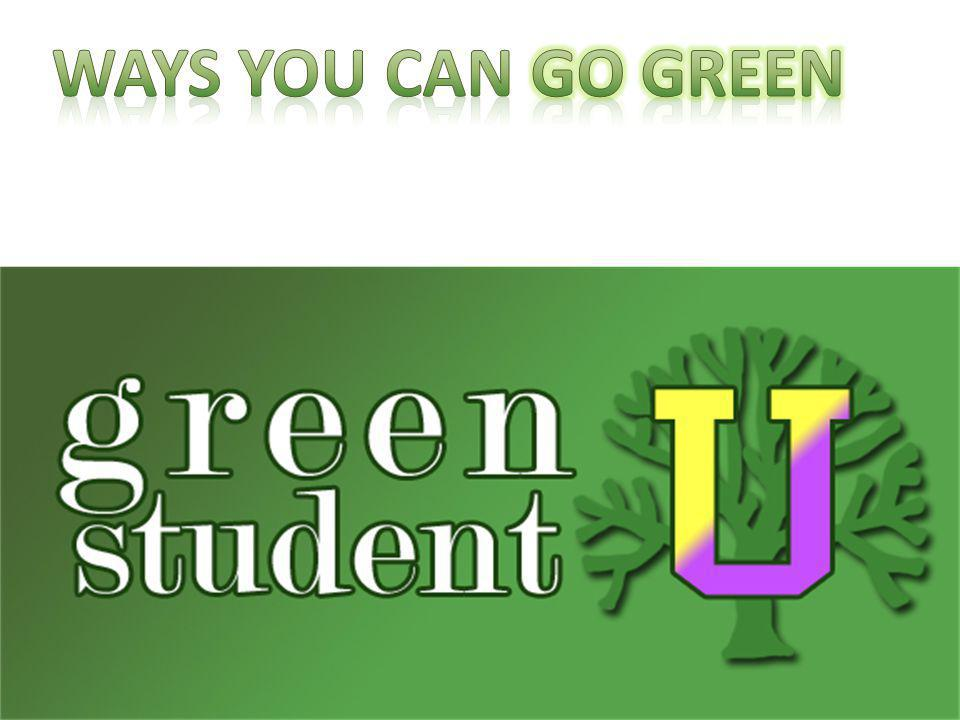 Ways You can Go Green