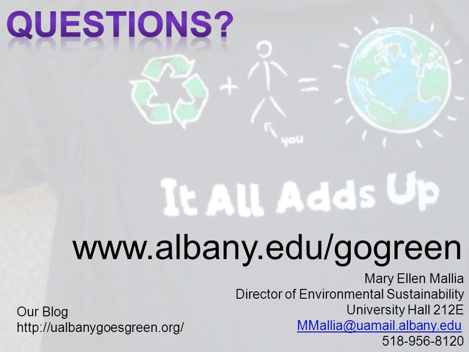 QUESTIONS www.albany.edu/gogreen