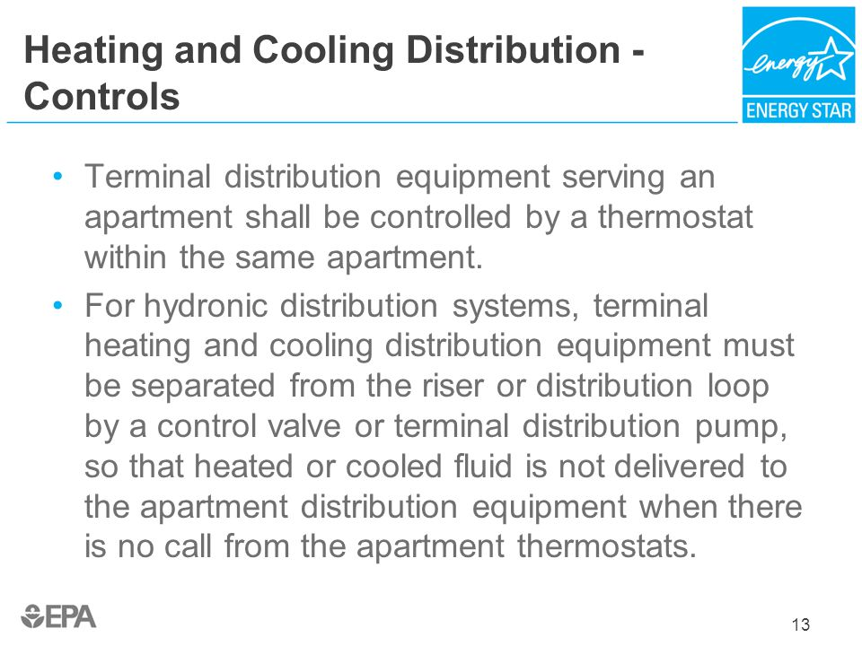 Heating and Cooling Distribution - Controls