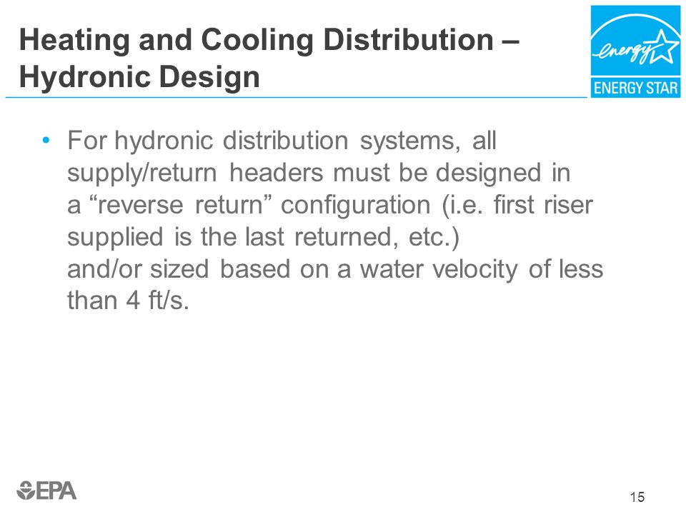 Heating and Cooling Distribution – Hydronic Design