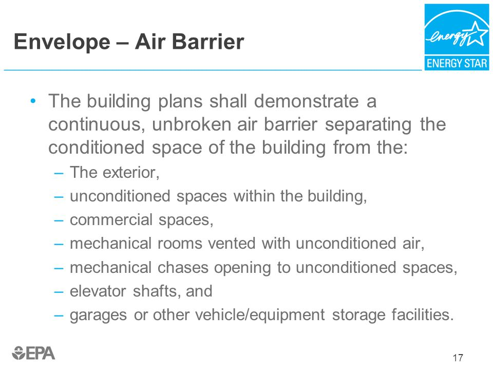 Envelope – Air Barrier