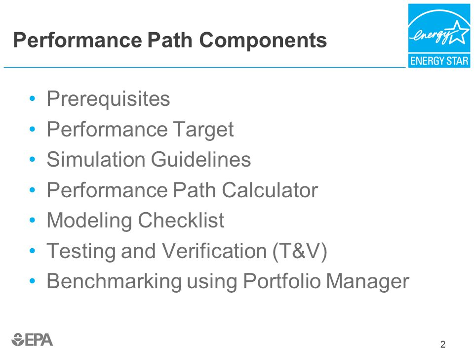 Performance Path Components