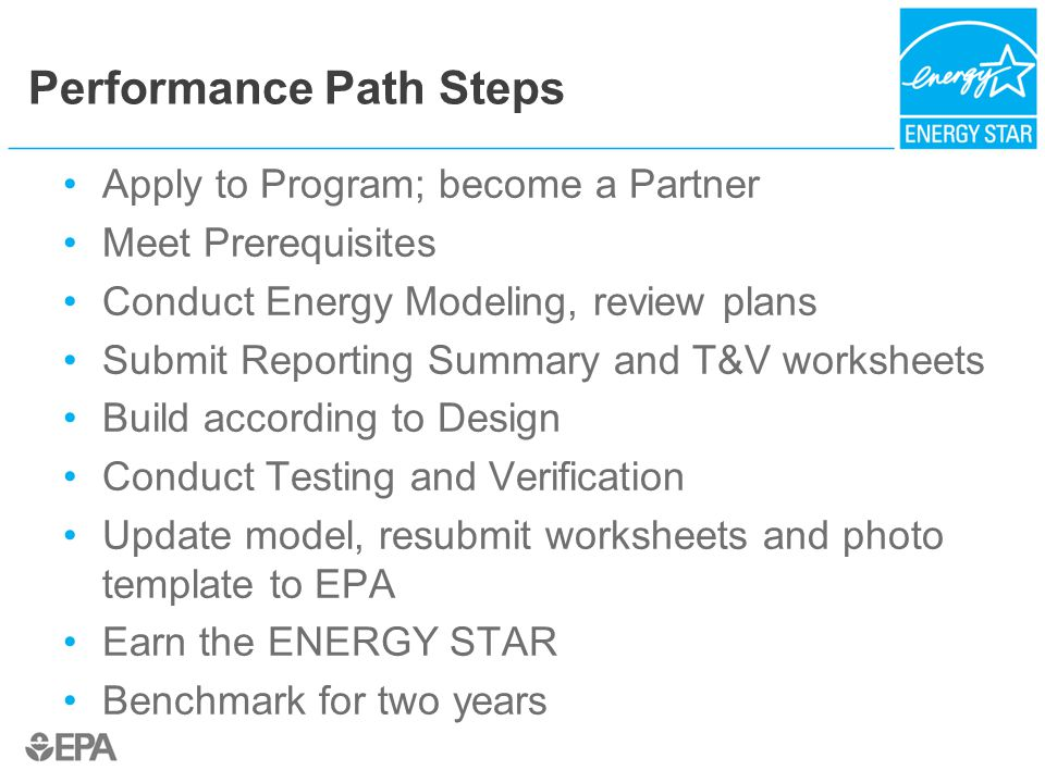 Performance Path Steps