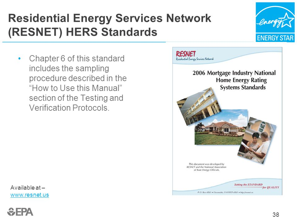 Residential Energy Services Network (RESNET) HERS Standards