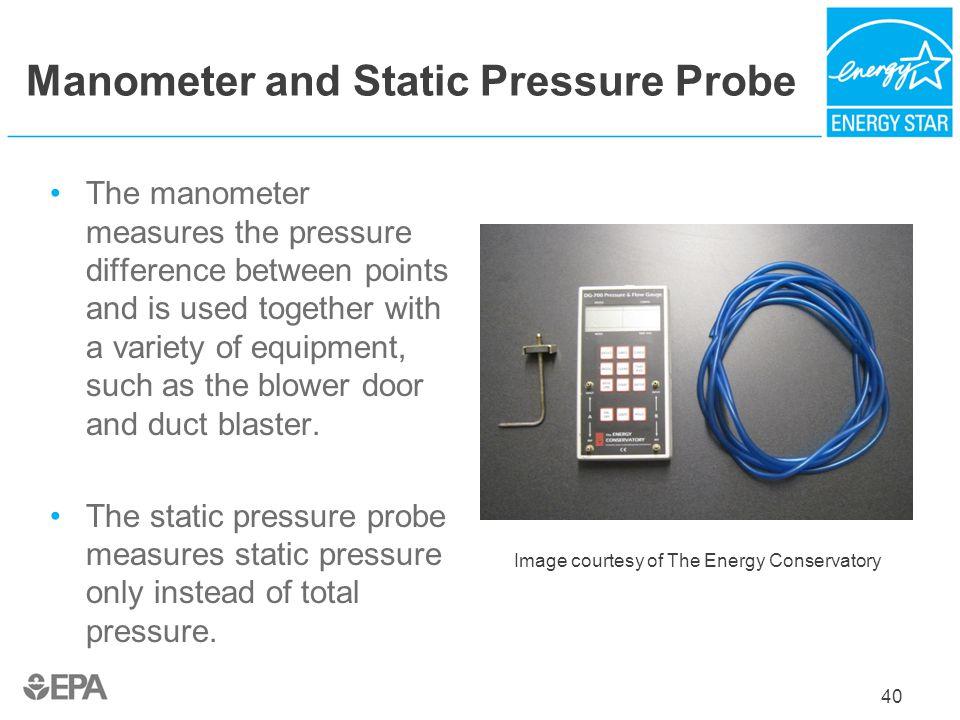Manometer and Static Pressure Probe